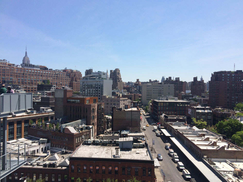 One thing that is spot on about the exterior of the Whitney is the massive terrace on each level.  Not a bad view.