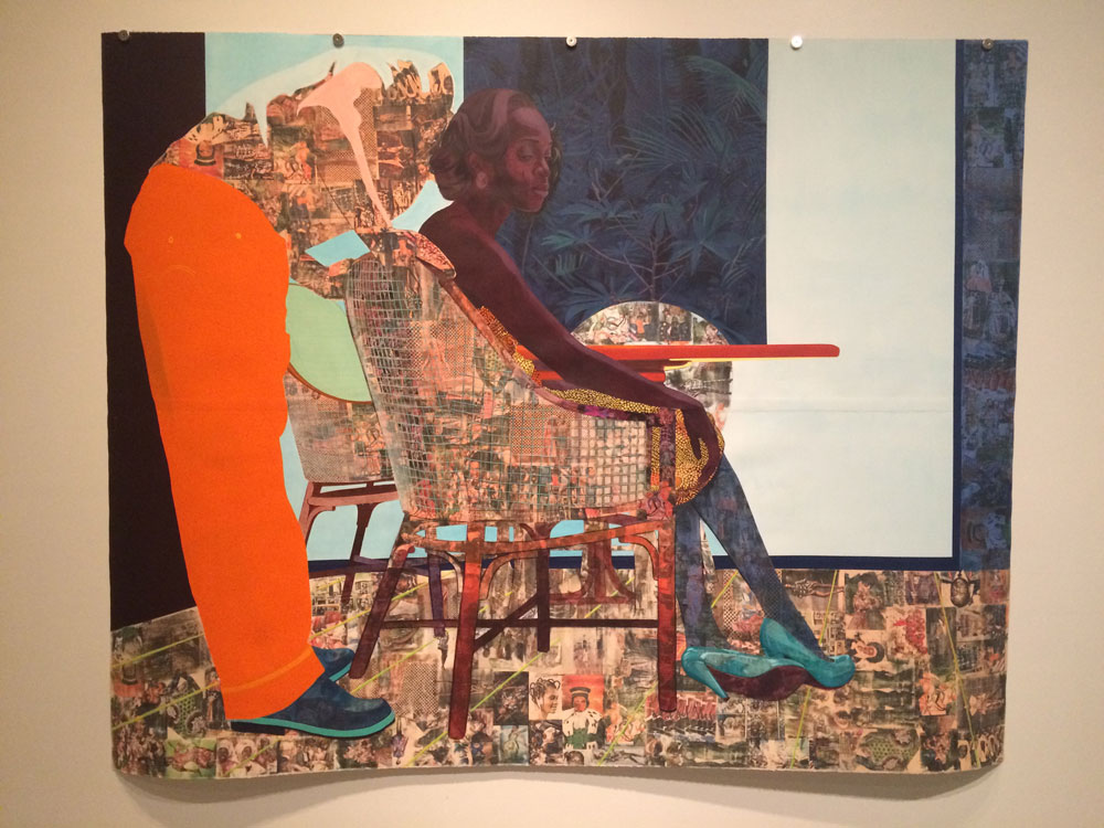 I recently learned about the work of Nigerian artist Njideka Akunyili Crosby, who now lives in LA (and is married to an American, hence the distinctly non-Nigerian last name).  She's quite young and has developed a unique style and visual lexicon.  I'd love to see her work in Nebraska some day.