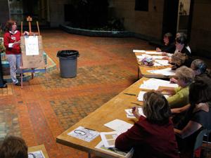 Julie leading a Thursdays for Teachers workshop.