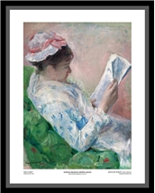 Woman Reading (Framed) - Mary Cassatt