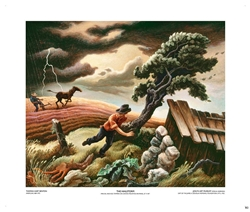 The Hailstorm - Thomas Hart Benton