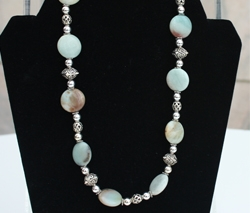 Rainbow Amazonite Necklace by Bev Muffly