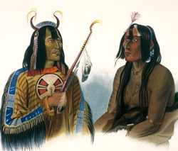 Noapeh, an Assiniboin Indian, and Psihdja-Sahpa a Yanktonian Indian