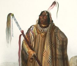 Pehriska-Ruhpa, a Minatarre, or big-bellied Indian