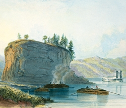 Tower-Rock, View on the Mississippi