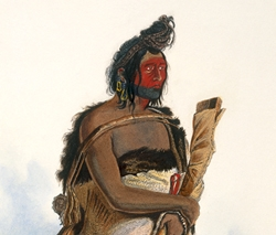 Mexkemahuastan, Chief of the Gros-Ventres des Prairies