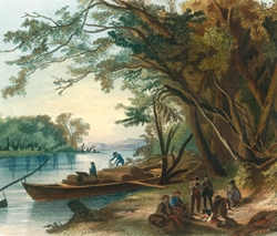 Encampment of the Travelers on the Missouri