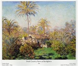 Small Country Farm at Bordighera Poster