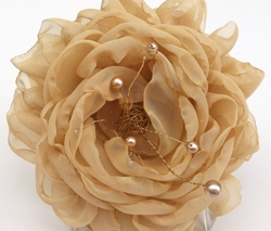 Large Gold Flower Clip by InezGill