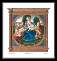 Madonna and Child with the Infant St. John and Two Angels (Framed) - Lorenzo Di Credi