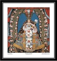 The Virgin of the Rosary (Framed) - Artist Unknown