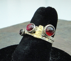 Three Garnet Ring by Donna Burdic