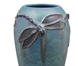 Dancing Dragonflies Vase by Ephraim Pottery