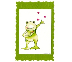 Handmade Frog Card by Frog House Press