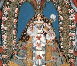 Virgin of the Rosary by Artist Unknown
