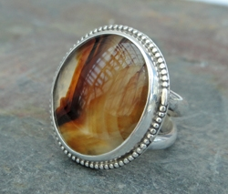 Montana Agate Ring by Ray & Ila Kunc