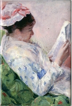 Mary Cassatt's Woman Reading Magnet