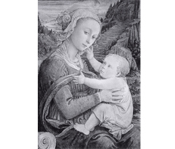 """Madonna and Child (after Fra Filippo Lippi)"" by Kent Bellows"