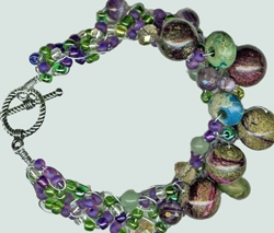 Amethyst and Quartz Bracelet by Nancy Godwin