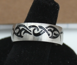 Stainless Steel with Black Detailing Ring by Rod Hernandez