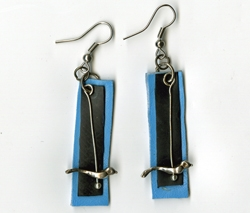 Dangling Bird Earrings by Renee Johnson
