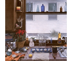 Kitchen Counter II (Dirty Dishes II) by Kent Bellows