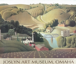 Grant Wood's Stone City, Iowa Poster