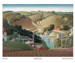 Stone City, Iowa by Grant Wood