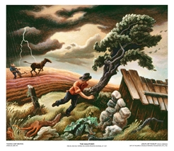 The Hailstorm by Thomas Hart Benton