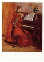 Young Girls at the Piano Postcard
