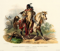 A Blackfoot Indian on Horse-Back