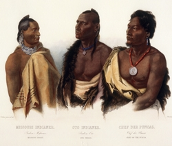 Missouri Indian/ Oto Indian/ Chief of the Puncas
