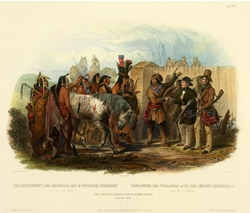 The Travellers Meeting with Minataree Indians (near Fort Clark)