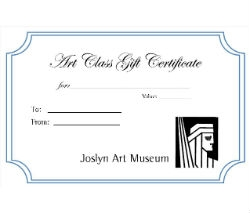 Gift Certificate for Ages 8-12 Art Class