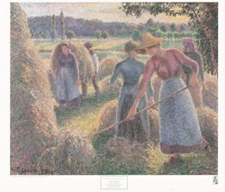 Haymakers, Evening, Eragny Poster