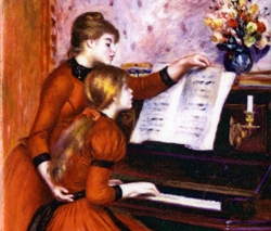 Pierre Auguste Renoir's Young Girls at the Piano Magnet