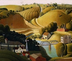 Grant Wood's Stone City, Iowa