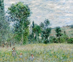 Claude Monet's Across The Meadow Poster