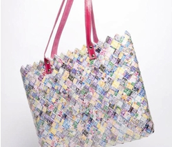 "QR Color Print ""Ritual"" Purse by Nahui Ollin Candy Wrapper Bags"