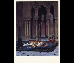 Gérôme's The Grief of the Pasha Postcard