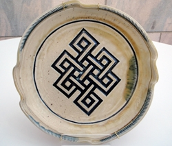 Large Endless Knot Plate by Rotten Potter